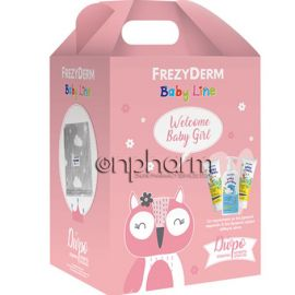 Frezyderm Promo Baby Welcome Girl Set: Baby Shampoo 300ml, Baby Cream 2x175ml με Δώρο Κουβέρτα Αγκαλιάς