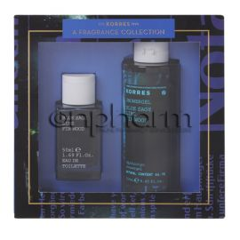 Korres Promo Set Eau De Toilette Blue Sage Lime Fir Wood Eau de Toilette 50ml Ανδρικό Άρωμα & Δώρο Αφρόλουτρο Shower Gel 250ml