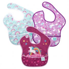 Bumkins Superbib Girl 6-24 months Unicorns 3Pack
