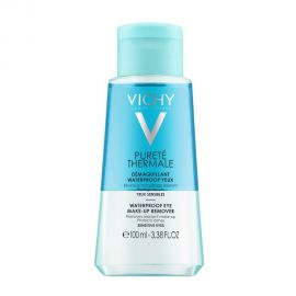 Vichy Purete Thermale Waterproof Eye Make-Up Remover Ντεμακιγιάζ Ματιών για Αδιάβροχο Μακιγιάζ 100ml