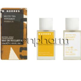 Korres White Tea/Bergamot/Freesia Eau de Toilette 50ml