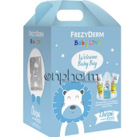 Frezyderm Promo Baby Welcome Boy Set: Baby Shampoo 300ml, Baby Cream 2x175ml με Δώρο Κουβέρτα Αγκαλιάς