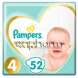 Pampers Premium Care N4  (9-14 kg)  52Τεμάχια