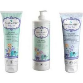 Pharmasept Promo Τol Velvet Baby Mild Bath 1Lt & Tol Velvet Baby Soothing Cream 150ml & Tol Velvet Baby Care Extra Calm Cream 150ml