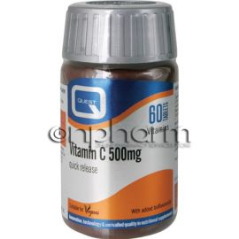 Quest Vitamin C 500mg Quick Release 60Ταμπλέτες