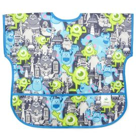 Bumkins Junior Bib Monsters Grey 1-3years