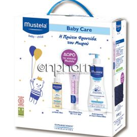 Mustela Promo Gentle Cleansing Gel Hair & Body 500ml & Vitamin Barrier Cream 123 50ml & Huile De Massage 100ml με ΔΩΡΟ Νεσεσέρ