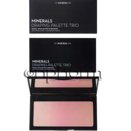 Korres Minerals Draping Palette Trio Blush Highlighter & Bronzer Pink 21g