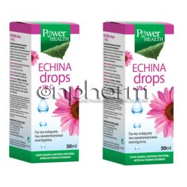 Power Health Promo  Echina Drops + VitaminC 50ml 1+1 Δώρο